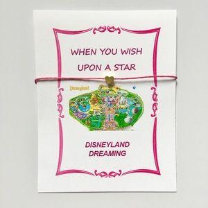 Disneyland Map Charm Bracelet Disney Jewelry Pink
